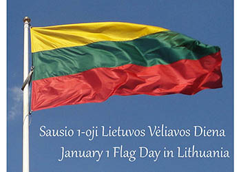 January 1 Flag Day in Lithuania